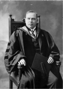 Figure 5. William Lyon Mackenzie King, former Prime Minister of Canada, in his doctoral gown from Harvard University (c. 1919). [Image credit: Wikipedia]